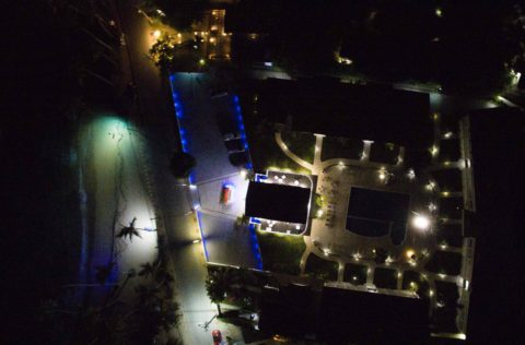 Albachiara Hotel Residence - Vista notturna da drone